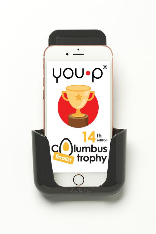 YOU-P smartphone telefoonhouder Columbus Trophy 2017 finalist