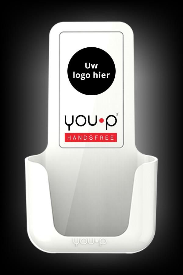 you-p handsfree | smartphonehouder - uw logo hier