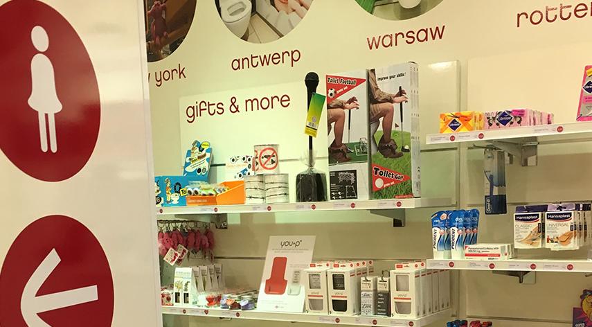 you-p handsfree | smartphonehouder - telefoonhouder - wc - toilet - 2theloo - Amstelveen