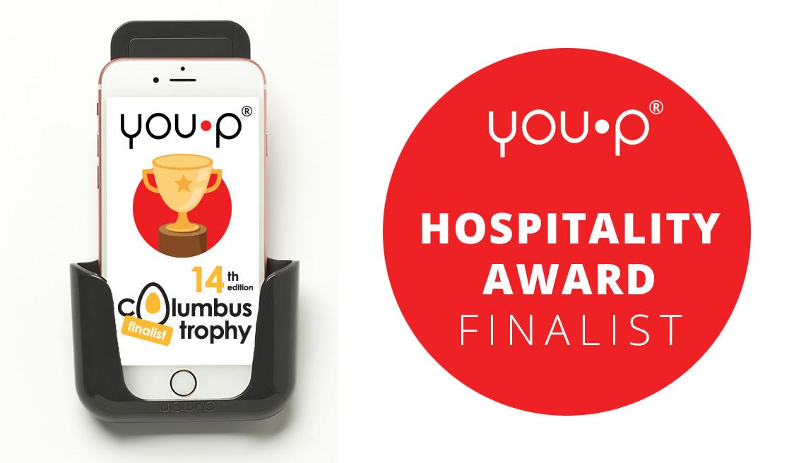 YOU-P smartphone telefoonhouder Columbus Trophy 2017 finalist | HORECA AWARD