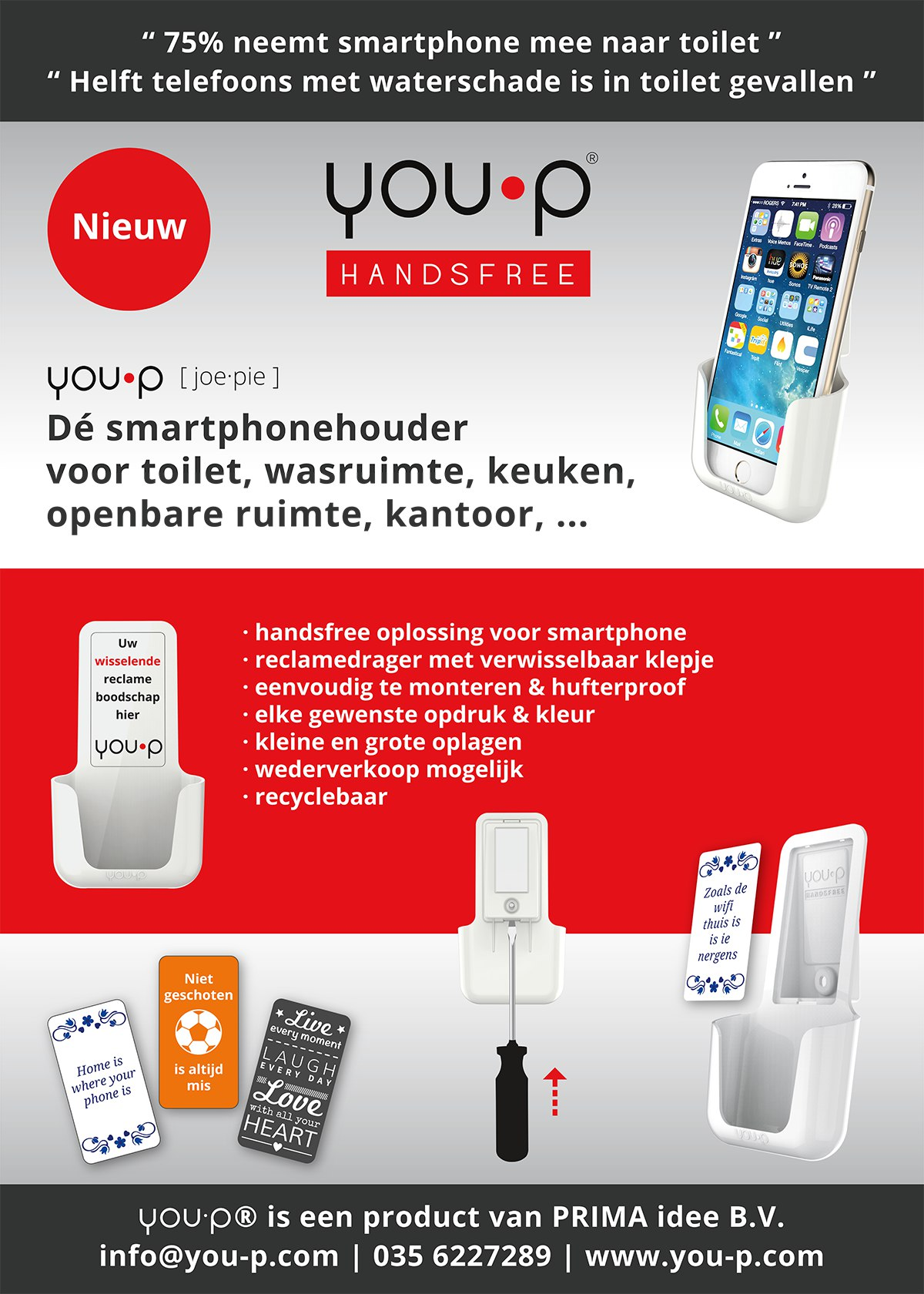 you-p handsfree | smartphone holder | telefoonhouder - horecawerf you-p flyer