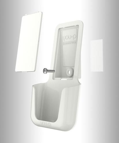 you-p handsfree | smartphonehouder - telefoonhouder - wc - toilet - bevestiging tape en schroef