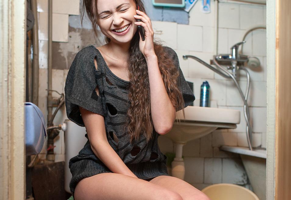 smartphonegebruik telefoongebruik toilet wc