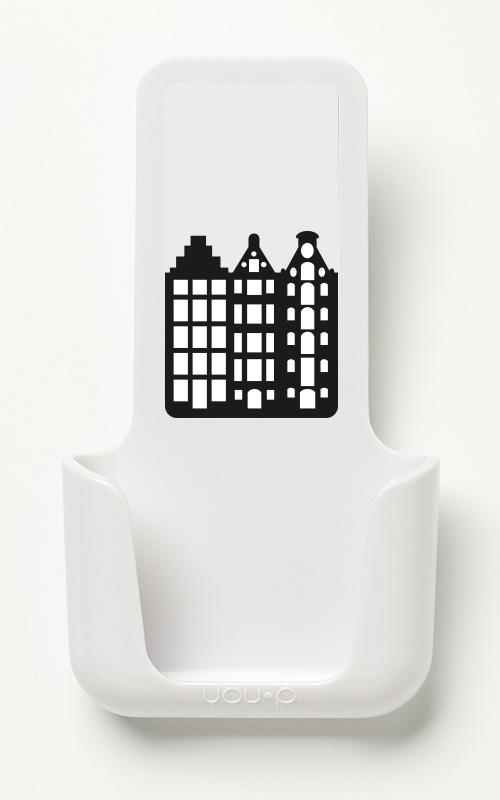 YOUP YOU-P telefoonhouder smartphone holder toilet wc keuken kitchen - Amsterdam grachtenhuisjes