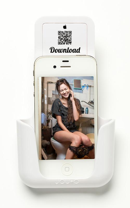 YOUP YOU-P telefoonhouder smartphone holder toilet wc keuken kitchen - Trev's soep