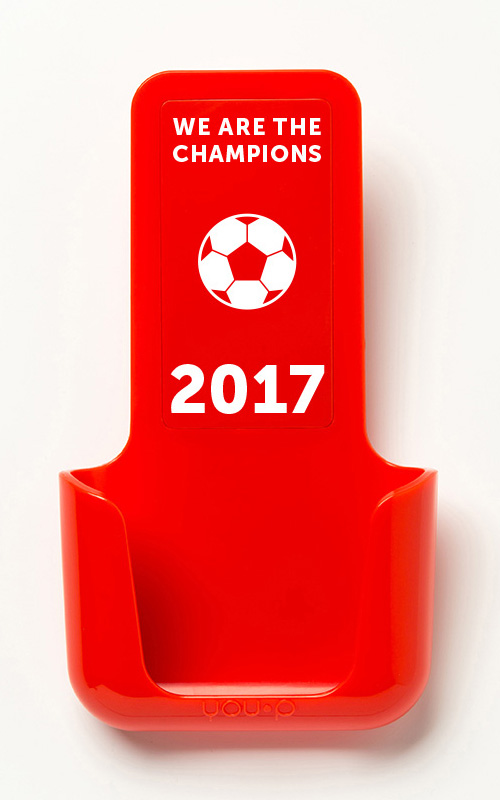 YOUP YOU-P telefoonhouder smartphone holder toilet wc keuken kitchen - we are the champions