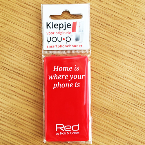 YOUP YOU-P telefoonhouder smartphone holder toilet wc keuken kitchen - klepje Red