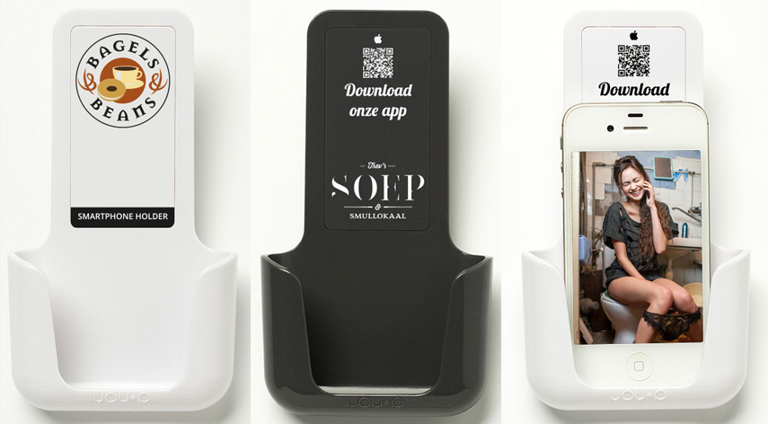YOU-P telefoonhouder smartphone holder toilet wc keuken kitchen - HORECA